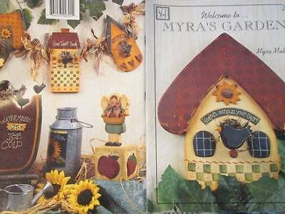 Welcome To Myra's Garden Painting Book-Mahy-Animals/Birds/Angels