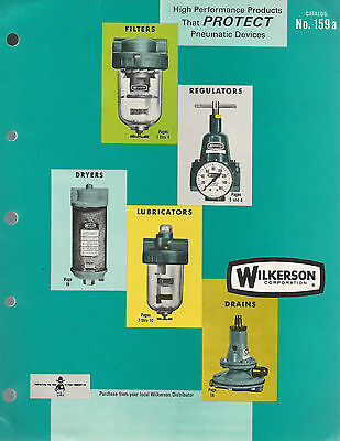 Compressed Air Products 1966 Catalog Filters Regulators Wilkerson Corp Colorado
