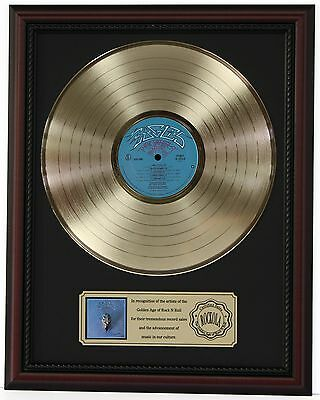 "Eagles Greatest Hits Gold Lp Record Framed Cherrywood Display ""k1"""