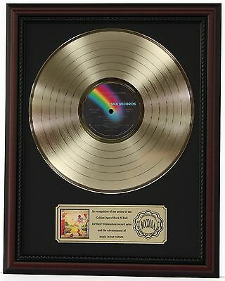 "Elton John Yellow Brick Road Gold Lp Record Framed Cherrywood Display ""k1"""