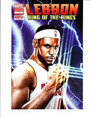 2012 Marvel Comics Lebron James King of the Rings #1 COMIC BOOK ESPN MINT