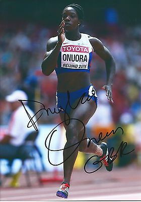 Hand Signed Anyika Onoura 12X8 Track And Field Photo - Coa Team Gb Rio 2016
