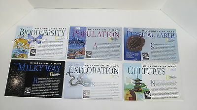 "National Geographic Map Set - ""Millennium in Maps Series"" (M2)"
