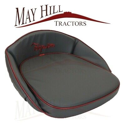 Ferguson Tractor Seat Cushion Grey with Red piping, embroided Ferguson - #3191