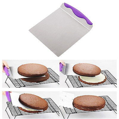 Stainless Steel Fondant Cake Pie Pizza Spatula Filling Icing Paste Lifter Shovel