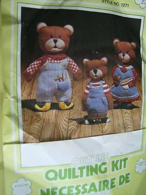 Three Bears Dolls Quilting Kit Approx 15 Inches, Beecrafty
