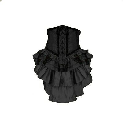 Gothic Baroque Burlesque Bustle Tornuere Skirt with Schleppe and Lacing 38 40