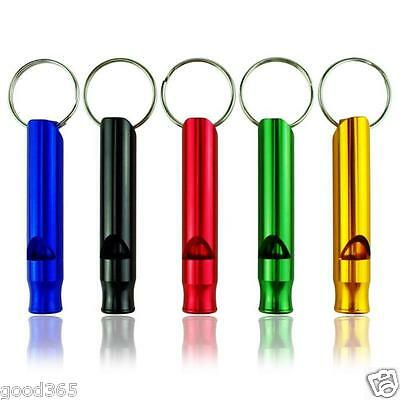 10pcs Mix Aluminum Emergency Survival Whistle Keychain For Camping Hiking Sports