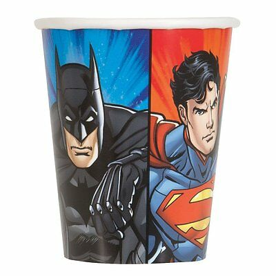 DC Justice League Children's Birthday Party 8 x 9oz Hot/Cold Paper Cups