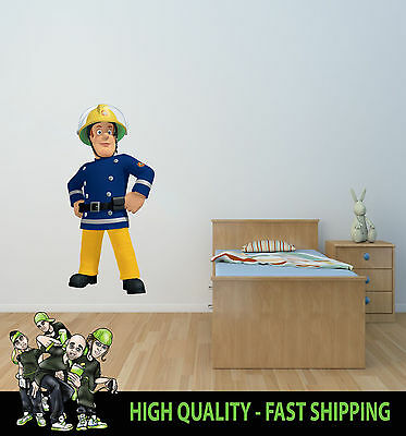 Printed Wall Art Wall Fireman Sam 002 Graphic Sticker Decal