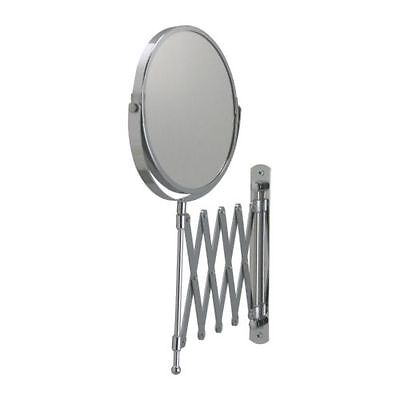 IKEA FRACK Stainless Steel Bathroom Makeup Shaving Retractable 2-Sided Mirror
