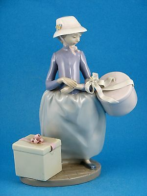 Easter Bonnets - Girl with Hat - Retired Figurine From Spain by Lladro #5852