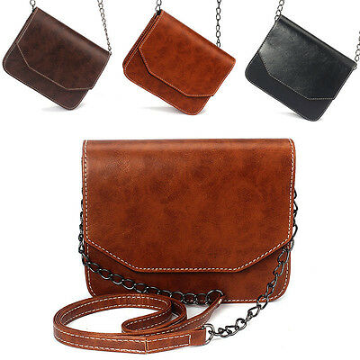 Women Retro Leather Chain Strap Sling Shoulder Bag Satchel Handbag Messenger Bag