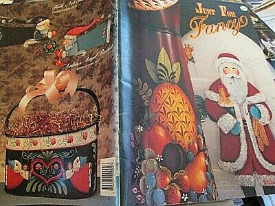 Just For Fancy Painting Book- Wetterman, Santas, Angel, Church, Rooster, Farm, F
