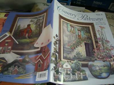 Country Pathways Painting Book #4 -Dozier, Skating Pond, Dog, Barns, Schoolhouse