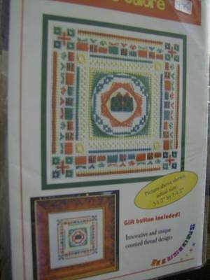 """Gifts Galore Canvaswork Chart & """"Gift"""" Button 56x56 Stitches"""