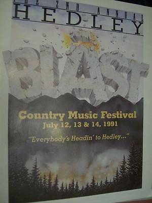 2nd Annual Hedley Country Music Festival 1991 Tour Program Book- Dr. Hook, Patty