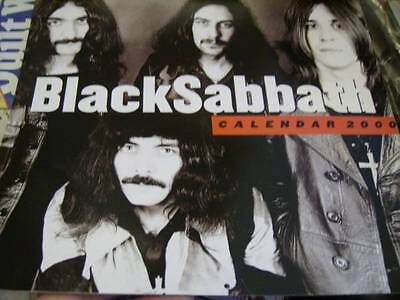 Black Sabbath 2000 Calendar With 12 Pictures & Cover