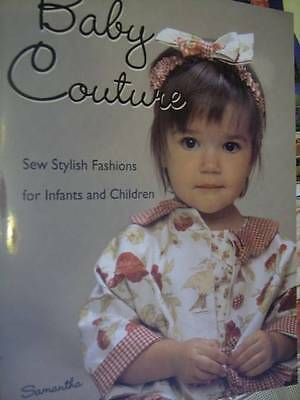 Baby Couture Sewing Craft Book- McNesby, For Infants & Children, Winter Brights,