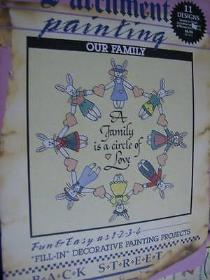 Parchment Painting Book- OUR FAMILY -11 Designs Ready To Paint, Back Street Desi