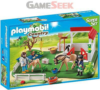 Playmobil 6147 Horse Paddck Super Set - Toys Brand New Free Delivery
