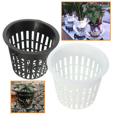 "10 Pcs 3"" Heavy Duty Mesh Pot Net Cup Basket Hydroponic Aeroponic Planting Grow"
