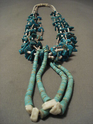 "122 Gram Huge Museum """"chunk Turquoise"""" Necklace"