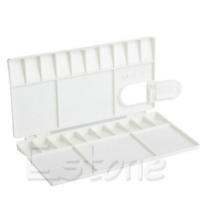 White 25 Grids Large Art Paint Tray Artist Oil Watercolor Plastic Palette GRT