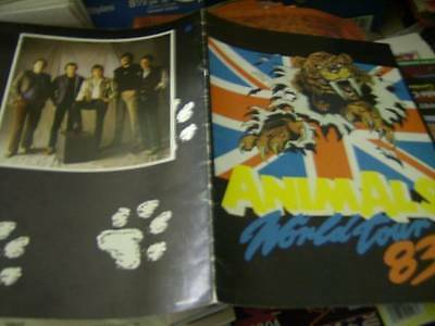 Animals World Tour Program Book 1983
