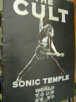 The Cult Sonic Temple World Tour Program Book 1989-1990