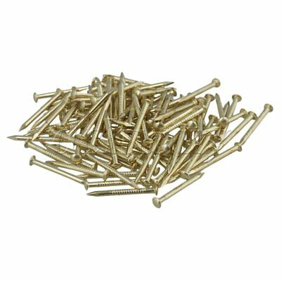 100pcs Furniture Round Head Archaize Pure Copper Nail Brass 18 x 2.8mm