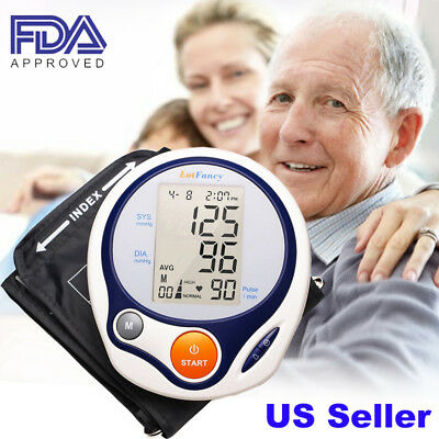 Automatic Digital Arm Blood Pressure Monitor BP Cuff Machine Gauge Tester Device