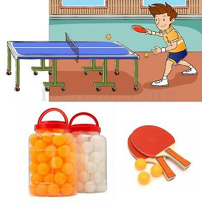 60Pcs Standard Table Tennis Ping Pong Ball Orange White Student Indoor Sports