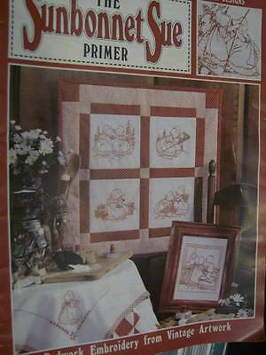 Sunbonnet Sue Primer Transfer Book, 16 Designs For Crewel Embroidery
