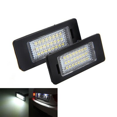 For Bmw 3 Series E90 E91 E92 E93 M3 24 Led Number Plate Light Lamp Pair