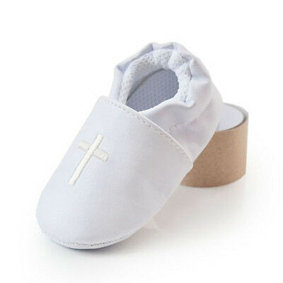 Kid Baby Boy Girl Cross Baptism Shoes Soft Soled Modest Christening Church 0-18M