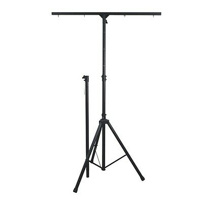 NJS Adjustable Aluminium DJ Disco Lighting Stand with 1.22M T-Bar