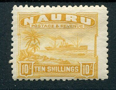Nauru KGV 1924 10s yellow SG39A mounted mint