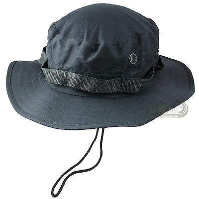 Mil-Tec Classic US Army Military Tactical GI Style Cotton Bush Boonie Hat Black