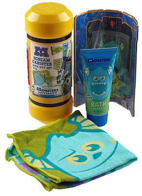Monsters University Bath Time Scream Canister Gift Set - With Foam Puzzle Toy