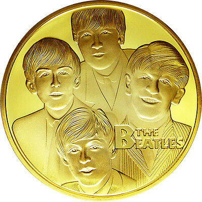 BEATLES Medaglia Oro Commemorativa Ringo John George Paul