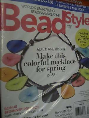 Bead Style Jewelry Making Magazine March 2008 & Bonus Booklet, 34 Projects