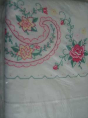 Janlynn Paisley Rose Pillowcase Pair To Embroider 20x30 Inches