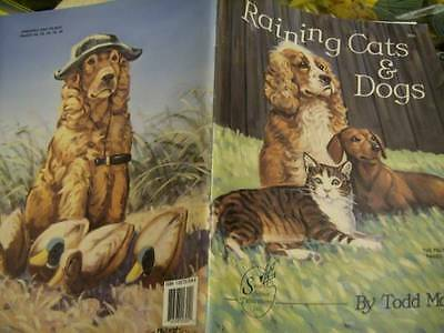 Raining Cats & Dogs Painting Book-Mallett- Persian/Chocolate Lab/Beagle