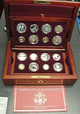 Atlanta 1996 Olympic US Mint 16 Coin Gold Silver Proof Set