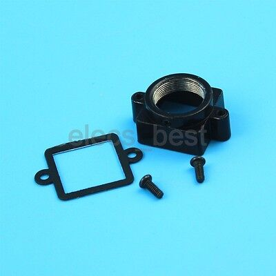 M12x P0.5 20mm small Camera Lens Black Metal Mount with Gasket for camera board