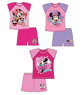 OFFICIAL Minnie Mouse Pink Shortie Pyjama Set Pyjamas 12-18 / 18-24 / 2-3 / 3-4