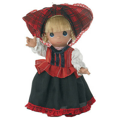 Precious Moments 'Hajna (Hungary)' 9 Inch Doll, Brown Eyes New In Box 3490