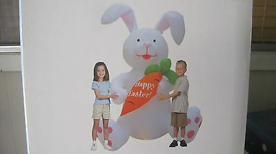 NEW 6 ft Airblown Inflatable light up Easter Bunny w/ Carrot