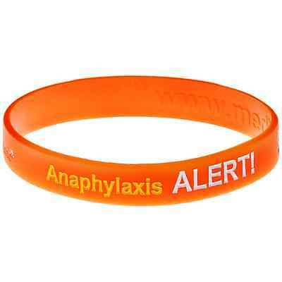 Anaphylaxis Allergy Red Silicone Wristband Medical Alert Id Bracelet Mediband